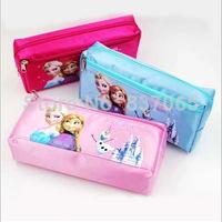 2014 Time-limited Sale Pencil Bag Fabric Estojo Escolar Frozen Pencil Bags Olaf Elsa & Anna Stationery (2small Bags) 12pcs/lot