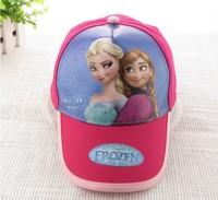 2014 Sale Hot Sale Character Unisex 2pcs/lot Frozen Anna Elsa Princess Cartoon Cap Sun Hat Fashion Movie Baseball for Kids Child