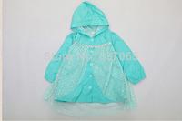 Pre-order Sale Nylon !!! 2014 New Fro Rainwear Children Raincoat Princess Elsa Rain Gear for 3-8 Ages Ship Around June 25th