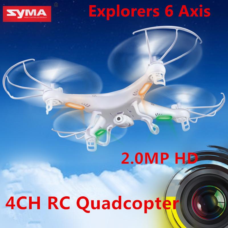 Syma rc quadcopter x5c esploratori 2.4g 4ch 6 assi giroscopio controllo remoto rc elicottero ufo con videocamera hd rtf pacchetto spedizione gratuita