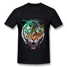 Only 1 Piece 100% Cotton T Shirt Men killer machine Tiger Printing Men T Shirts