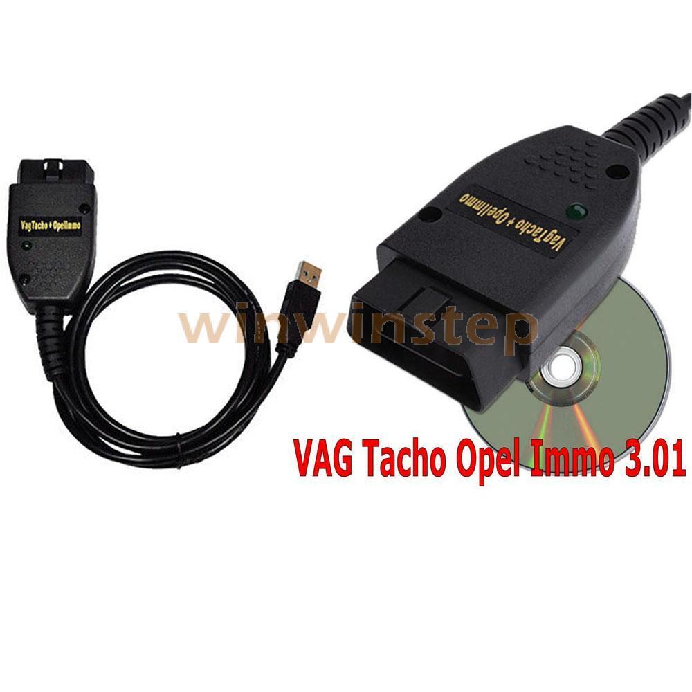 BS#S Black VAG TACHO 3.01 USB Immo AirBag Code Reader EEPROM KEY PIN for OPEL VW(China (Mainland))