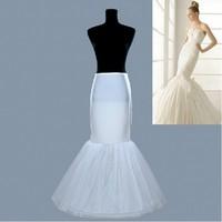 Hot sale Mermaid Petticoat/slip 1 Hoop Bone Elastic Wedding Dress Crinoline Trumpet Hot sale