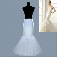 Hot sale Mermaid Petticoat/slip 1 Hoop Bone Elastic Wedding Dress Crinoline Trumpet Hot sale