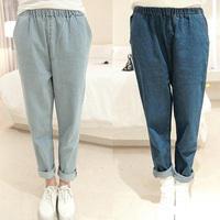 Fashion Women jeans.plus size designer Trousers.Classical Vintage Denim jeans.ladies full length pants wj1001