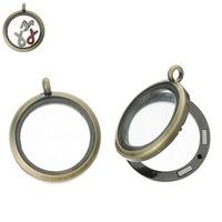 1PC Bronze Tone Floating Locket Living Memory Charm Locket For Floating Charms 3.5cmx3cm