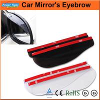 Car Styling Sticker 2pcs/lot Auto Universal Flexible Car Rearview Mirror Guard/Rain Shade / Eyebrow Rain Cover Rainproof Blades