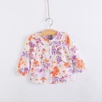 Children's clothing female child flower 100% cute cotton long-sleeve shirt child shirt top