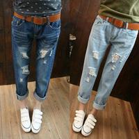Fashion Women jeans.plus size designer Trousers.Classical Vintage Denim jeans.ladies full length pants wj1005