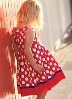 Wholesale 5pcs/lot 100% cotton baby girl cotton dress 2014 summer girl dress designs long dresses dot girl dresses