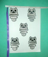 FREE SHIPPING,Silver Owl patch ,embroidery patch