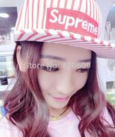 Promotion Fashion Supreme Hats Brand Strip Overall 4 Colors Hip Hop Bucket Hat Adjustable Women Snapback Baseball Caps Free Ship