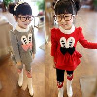 Rabbit ears wistiti children's clothing set girls new 2013 winter children outerwear
