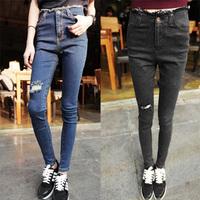 Fashion Women jeans.plus size designer Trousers.Classical Vintage Denim jeans.ladies full length pants wj1011