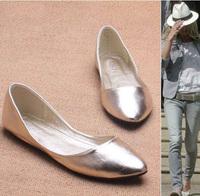 Plus Size 35-41 Fashion Flats for Women 2014 Pointed Toe Soft Outsole Flat Heel Shoes Single Street Fashion Flats Free Shipping