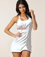 1pc Ladies Summer Dress Fashion Beach Cover Up Halterneck beach wear bikini dress more than 10 colors size S,M,L,XL