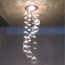 NEW 2014 3W LED chandelier crystals sale modern crystal lamps aisle high power lights 110V-220V D85mm(China (Mainland))