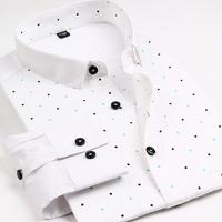 2014 New Men'S High Quality Slim Business Dress Shirt Male Long-Sleeved Printing Shirts Men Luxury Noble Dress Shirts XG8-197