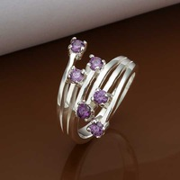Free Shipping Wholesale 925 Sterling Silver Ring,925 Silver Fashion Jewelry Meteor insets Ring SMTR339