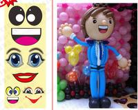 Cartoon dot eye stickers balloon decoration eye stickers magic balloon eye stickers slitless balloon eye stickers 15pcs /set