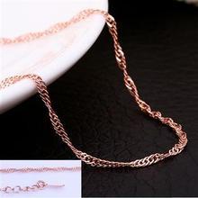Mercadoria promocional barato. 18K ligação charme da moda colar de corrente de 5 milímetros 18K atacado jóia da forma barata PC013 atacado(China (Mainland))