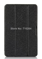 """2014 Hot Selling Ultra-Thin Silk Pattern 8"""" Folio PU Leather Stand Case For Lenovo A5500 Tablet PC , Free Shipping"""
