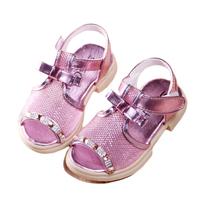 2014 net gauze children bow sandals girls princess shoes rhinestone open toe soft outsole casual children shoes