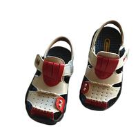 2014 child sandals children color block decoration sandals soft children slip-resistant outsole shoes summer boys sandals