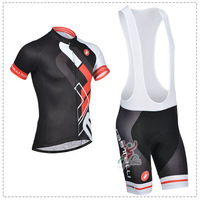New ! Italy 2014 Castelli Cycling Jersey/Cycling wear/bike Clothes short sleeve Bib Shorts-ciclismo-3D (Wholesale) Free shipping