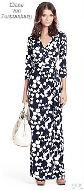 free shipping new 2015 floor length women spring&summer dress chiffon long dress korean drama girls party dress beautiful dress(China (Mainland))