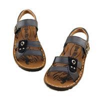 2014 child sandals genuine leather cowhide shoes polyurethane kids sandals
