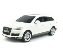 Free shipping 1:24 Audi Q7 charging remote control race car simulation models rc car electric for kids gift White/black/silver