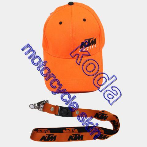 Wholesale embroidery motogp cap motorcycle racing cap KTM sport Casual Cap hang neck BADGE key mobile phone lanyard Rope buckle(China (Mainland))