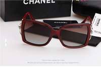 Counter genuine new female 2014 fashion sunglasses Oversized sunglasses The noble example sign Free Shipping