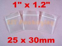 "GOOD BULK PRICE 500 Small Plastic Ziplock Thick Clear Poly Zipper Bags 1"" x 1.2""_25 x 30mm"