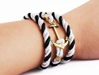 Sunshine jewelry store fashion rope anchor bracelets bangles