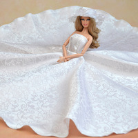 Handmade Vintage Wedding Clothes For Barbie Doll