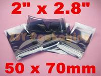 "GREAT BULK PRICE 100 ESD Anti-Static Shielding ZIP LOCK Bags 2"" x 2.8""_50 x 70mm_USABLE SIZE"