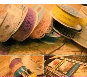 D351 DIY Handmade Jewelry Accessories Produce Creative Album Openwork Lace Adhesive Tape Wholesale(China (Mainland))