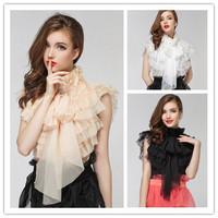 H&Q 2014 new runway summer fashion sweet vintage girl ladies royal court princess bow chiffon tops blouse shirt S,M,L