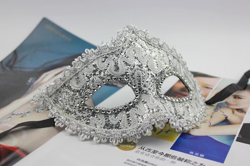 10 pcs de casamento bola de disfarce máscaras venezianas new hot máscaras do partido de natal 2014 grátis frete mini máscara fêmea(China (Mainland))