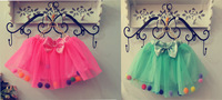Free Shipping 2014 Summer Children Skirt For Girls Ball Fluffy Princess Skirt Kids Tutus Layered Short Party Little Girl Skirt