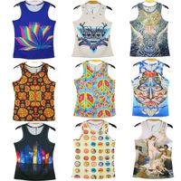 2014 New Fashion Tops Man's 3D Print Sleeveless Tank Top Male Summer Casual Jersey Sportwear Leopard Vest T Shirts Free Shipping