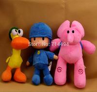 3pcs/lot  POCOYO and Friends Cartoon Dolls & Stuffed toys& Hobbies Elly & Pato & POCOYO Baby Kids Toys free shipping