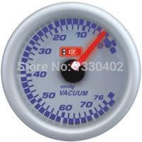 Free shipping 2inch white face vacuum meter 52mm LED blue light car meter vacuum gauge speedmeter car accessories tachometer(China (Mainland))
