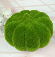 High artificial plant moss pumpkin halloween decoration photography mold home garden decorative flowers