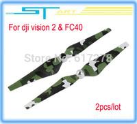2014 hot 2pcs/lot DJI Phantom 2 Vision FC40 9443 Camouflage Propeller CW/CCW blades free shipping remote control