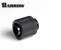 Barrow Black 3/8'' hand compression fittings nozzle G1/4 thread suit 9.5x12.7mm tubing Computer cooling fittings