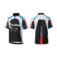 Children Cycling Jersey Germany Brand Anti-sweat Bike Wear Height 140 146 152 158 164cm Boy Cube Bike Jersey High Quality
