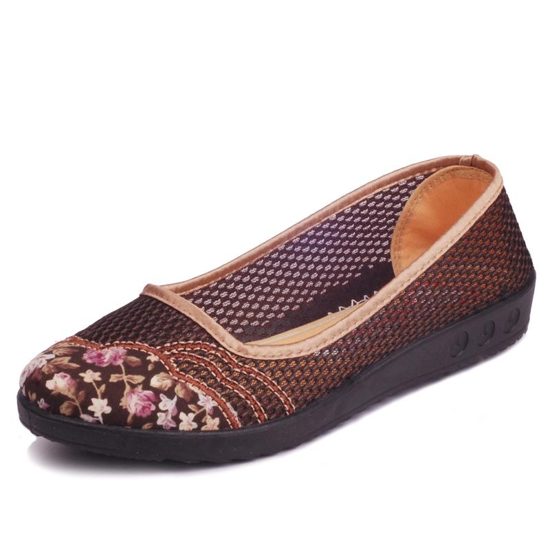 2014 beijing sapatos de pano das mulheres mulheres net sapatos único os sapatos mãe idosa sapatos de sola macia(China (Mainland))